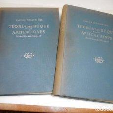 Libros de segunda mano: CARLOS GODINO GIL TEORÍA DEL BUQUE Y SUS APLICACIONES (ESTÁTICA DEL BUQUE) (2 TOMOS) Q3083A. Lote 220083607