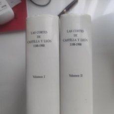 Libros de segunda mano: LAS CORTES DE CASTILLA Y LEON 1188-1988 (2 TOMOS, PRIMERA EDICIÓN 1990). Lote 220087900