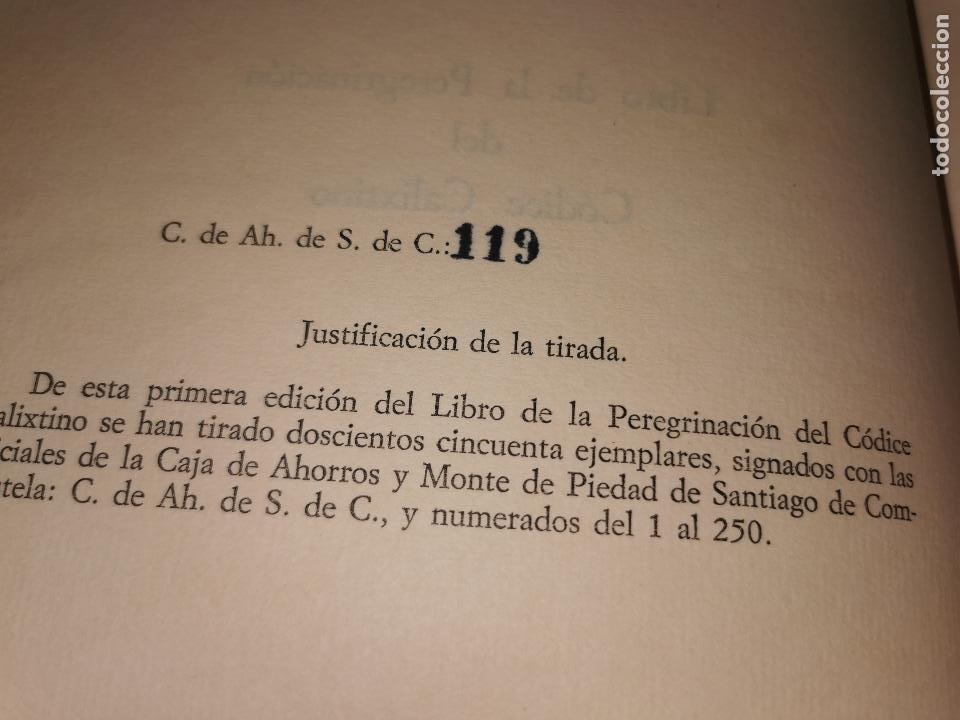 Libros de segunda mano: LIBRO DE LA PEREGRINACION DEL CODICE CALIXTINO - (JOYAS BIBLIOGRAFICAS ) - Foto 4 - 220399731