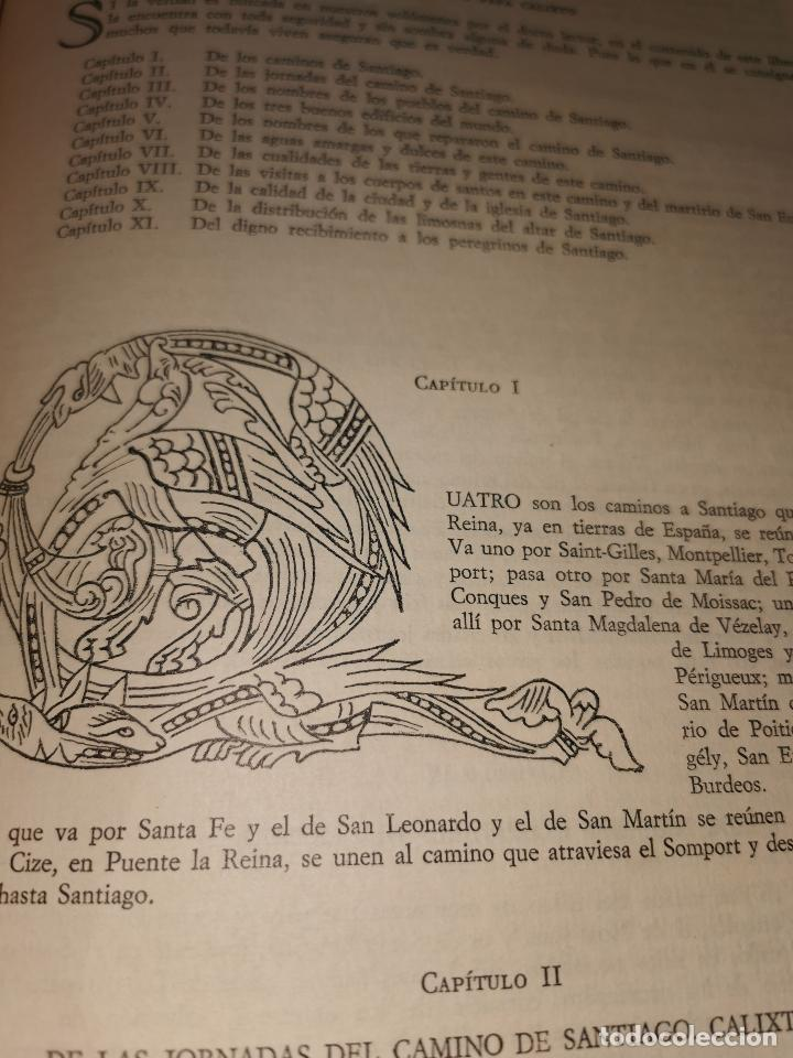 Libros de segunda mano: LIBRO DE LA PEREGRINACION DEL CODICE CALIXTINO - (JOYAS BIBLIOGRAFICAS ) - Foto 8 - 220399731