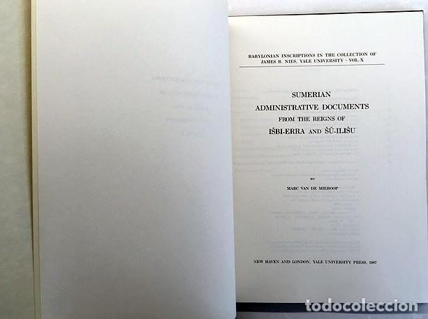 Libros de segunda mano: Sumerian Administrative Documents. (Documentos administrativos sumerios) 74 láminas - Foto 3 - 220561143