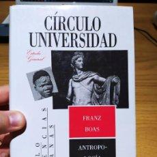 Libros de segunda mano: ANTROPOLOGIA CULTURAL, FRANZ BOAS, ED. CIRCULO UNIVERSIDAD, 1990. Lote 220700726