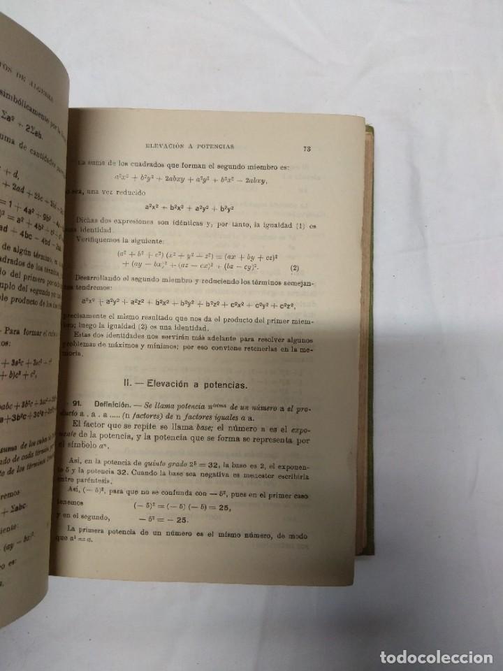 Libros de segunda mano: Elementos de álgebra. Ediciones Bruño. - Foto 5 - 220861970