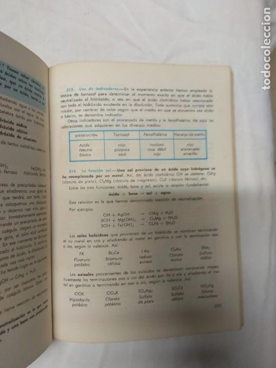 Libros de segunda mano: Física y química. 4° curso. Librería S.M. - Foto 4 - 220864028