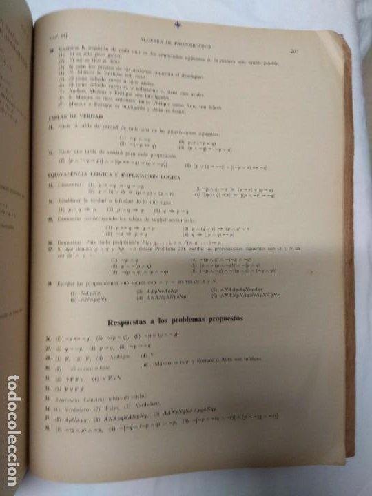 Libros de segunda mano: Teoria y problemas. Teoría de conjuntos y temas afines. Seymour Lipschutz. 530 problemas resueltos. - Foto 3 - 220867047