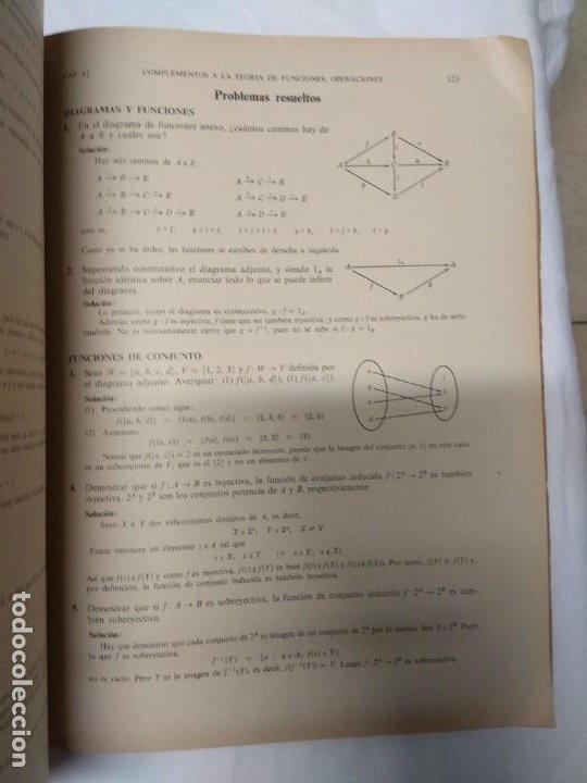 Libros de segunda mano: Teoria y problemas. Teoría de conjuntos y temas afines. Seymour Lipschutz. 530 problemas resueltos. - Foto 4 - 220867047
