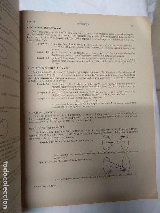 Libros de segunda mano: Teoria y problemas. Teoría de conjuntos y temas afines. Seymour Lipschutz. 530 problemas resueltos. - Foto 5 - 220867047