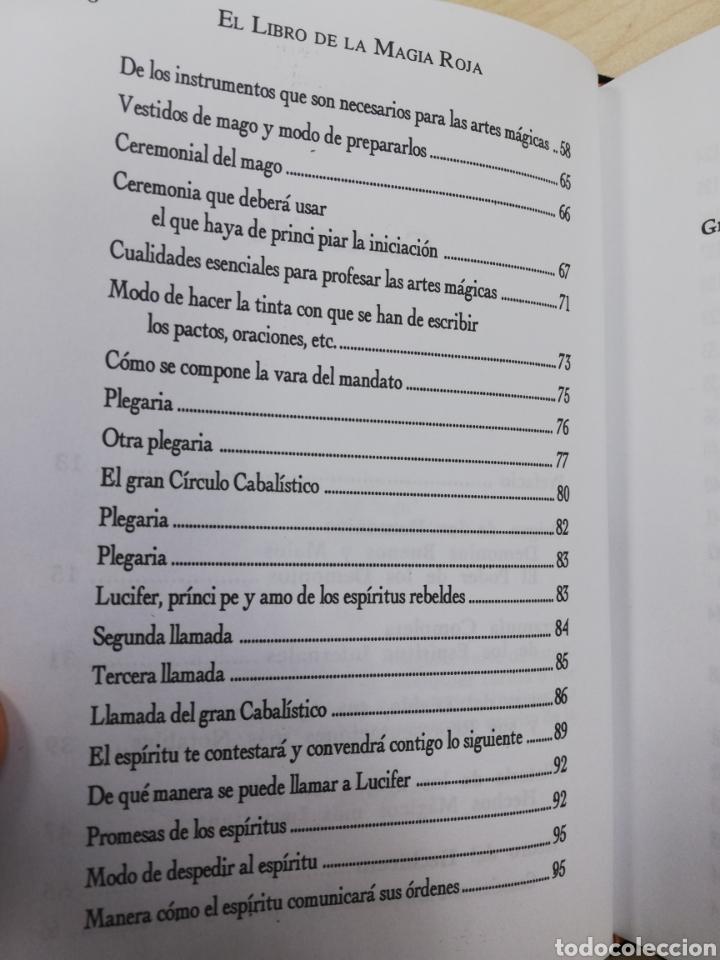 Libros de segunda mano: EL LIBRO DE LA MAGIA ROJA,- SECRETOS DE SALOMON - EN TERCIOPELO NEGRO - Foto 4 - 172802310