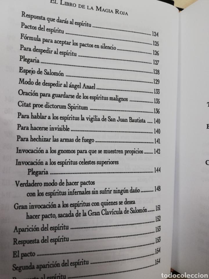 Libros de segunda mano: EL LIBRO DE LA MAGIA ROJA,- SECRETOS DE SALOMON - EN TERCIOPELO NEGRO - Foto 6 - 172802310