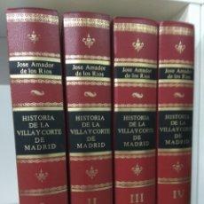 Libros de segunda mano: HISTORIA DE LA VILLA Y CORTE DE MADRID OBRA COMPLETA 4 TOMOS FACSIMIL 1861 LIMITADA ILUSTRADOS. Lote 220965586
