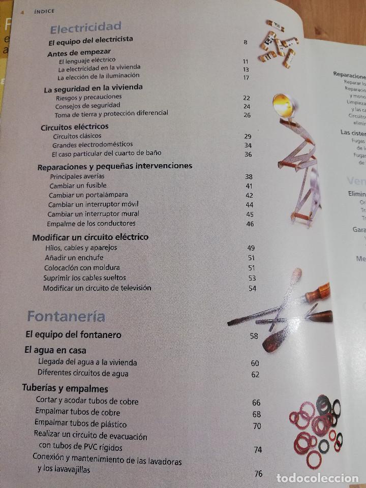 Libros de segunda mano: PEQUEÑAS REPARACIONES. ELECTRICIDAD, FONTANERÍA, AISLAMIENTO Y CALEFACCIÓN (LAROUSSE 100% PRÁCTICO) - Foto 3 - 221000056