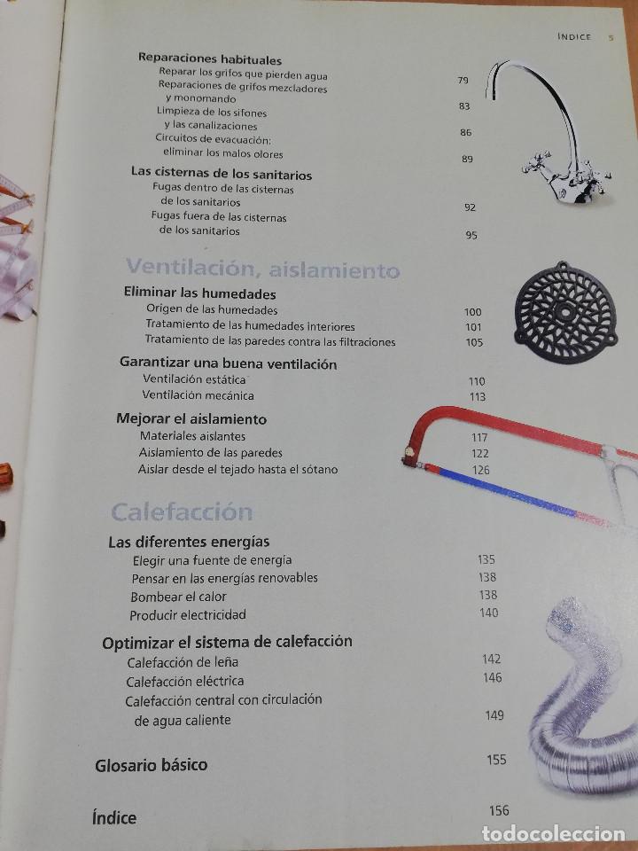 Libros de segunda mano: PEQUEÑAS REPARACIONES. ELECTRICIDAD, FONTANERÍA, AISLAMIENTO Y CALEFACCIÓN (LAROUSSE 100% PRÁCTICO) - Foto 4 - 221000056