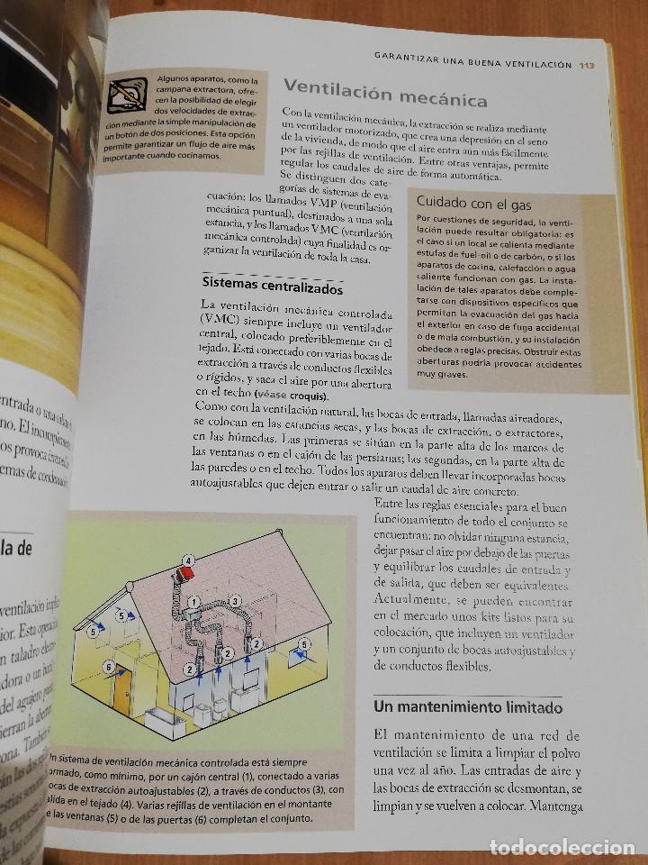 Libros de segunda mano: PEQUEÑAS REPARACIONES. ELECTRICIDAD, FONTANERÍA, AISLAMIENTO Y CALEFACCIÓN (LAROUSSE 100% PRÁCTICO) - Foto 6 - 221000056