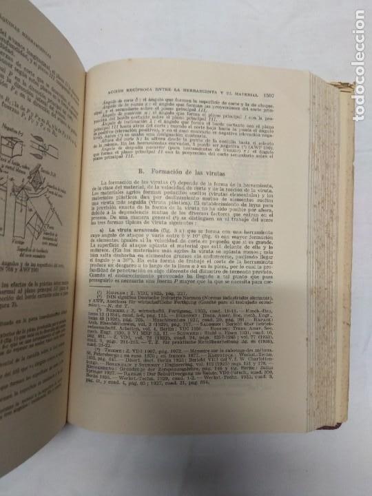 Libros de segunda mano: Manual del constructor de maquinas. Tomo 1 y 2. H. Dubbel. - Foto 8 - 221156283