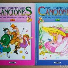 Libros de segunda mano: LOTE MIS PRIMERAS CANCIONES: ÁLBUMES 1 Y 2 (SUSAETA, 1993). ILUSTRACIONES DE MARÍA PASCUAL.. Lote 221437148