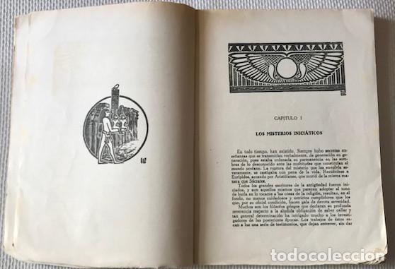 Libros de segunda mano: [Antiguo Egipto:] Durville, Henri: Los misterios iniciaticos. Revelaciones del ocultismo egipcio. - Foto 4 - 221476896