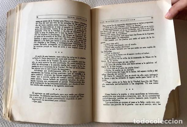 Libros de segunda mano: [Antiguo Egipto:] Durville, Henri: Los misterios iniciaticos. Revelaciones del ocultismo egipcio. - Foto 5 - 221476896