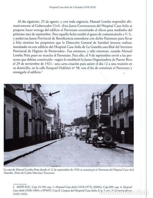 Libros de segunda mano: X4016 - HOSPITAL CASA ASILO DE A GUARDA (1918-2018). HISTORIA. PONTEVEDRA. GALICIA. NUEVO. - Foto 5 - 221496447