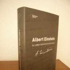 Libros de segunda mano: ALBERT EINSTEIN: EL LIBRO DEFINITIVO DE CITAS (PLATAFORMA, 2014) TAPA DURA. EXCELENTE ESTADO.. Lote 221497273