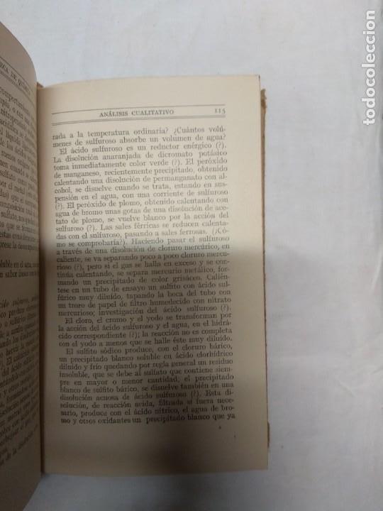 Libros de segunda mano: Análisis químico cualitativo. Tomos 1 y 2. H. V. Pechmann/W. Schlenk/F. W. Heule. - Foto 4 - 221556203