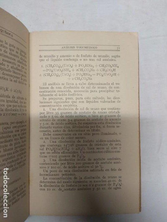 Libros de segunda mano: Análisis químico cualitativo. Tomos 1 y 2. H. V. Pechmann/W. Schlenk/F. W. Heule. - Foto 9 - 221556203
