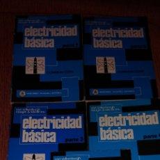 Libros de segunda mano: ELECTRICIDAD BÁSICA MARCOCOMBO VAN VALKENBURGH 5 VOLÚMENES AÑOS 70. Lote 221591965