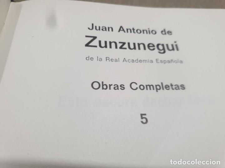 Libros de segunda mano: LITERATURA.....JUAN ANTONIO DE ZUNZUNEGUI.....OBRAS COMPLETAS...2 TOMOS....1972.... - Foto 12 - 221599470