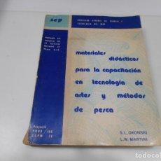 Libros de segunda mano: MATERIALES DIDÁCTICOS PARA LA CAPACITACIÓN EN TECNOLOGÍA DE ARTES Y MÉTODOS DE PESCA Q3220T. Lote 221662515