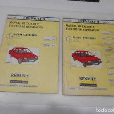 Libros de segunda mano: RENAULT 9 MANUAL DE TALLER Y TIEMPOS DE REPARACIÓN ( 2 TOMOS) Q3224T. Lote 221663282