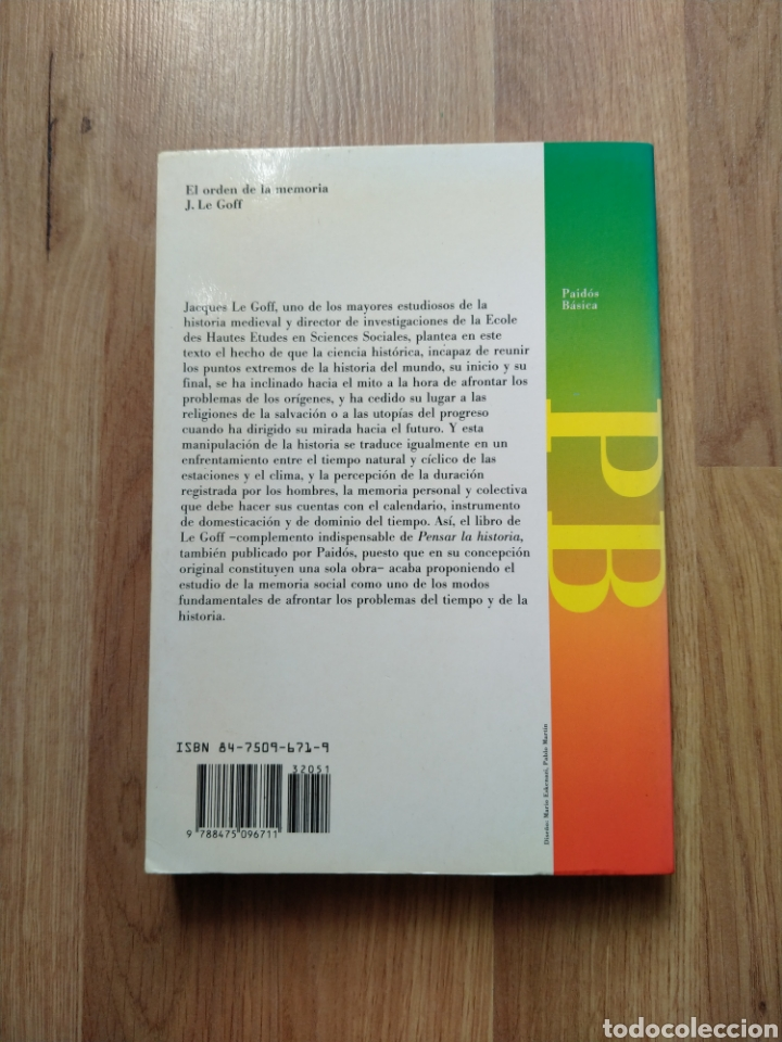 Libros de segunda mano: El orden de la memoria. El tiempo como imaginario. Jacques Le Goff. - Foto 3 - 221670350