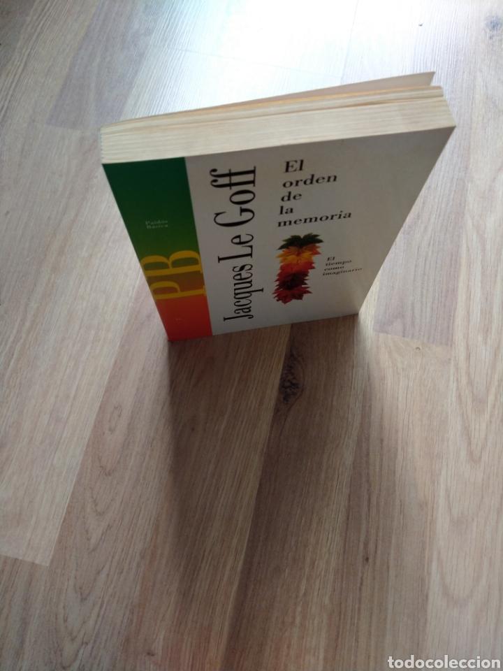 Libros de segunda mano: El orden de la memoria. El tiempo como imaginario. Jacques Le Goff. - Foto 4 - 221670350