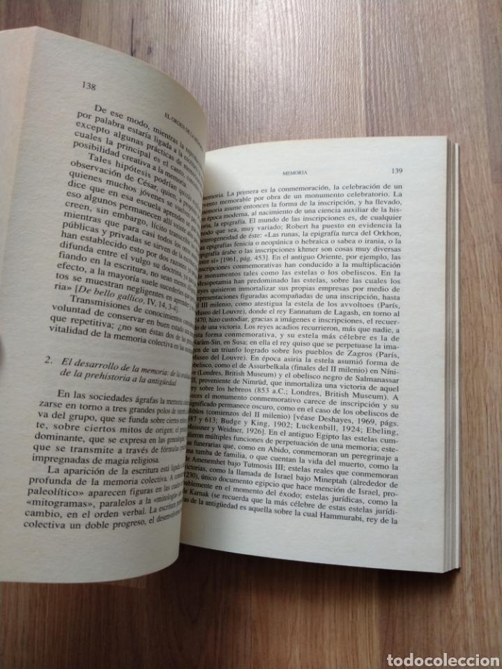 Libros de segunda mano: El orden de la memoria. El tiempo como imaginario. Jacques Le Goff. - Foto 5 - 221670350