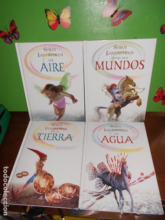 SERES FANTASTICOS ENTRE DOS MUNDOS / DEL AGUA / DEL AIRE / DE LA TIERRA - 4 LIBROS (Libros de Segunda Mano - Parapsicología y Esoterismo - Otros)