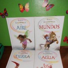 Libros de segunda mano: SERES FANTASTICOS ENTRE DOS MUNDOS / DEL AGUA / DEL AIRE / DE LA TIERRA - 4 LIBROS. Lote 221680223