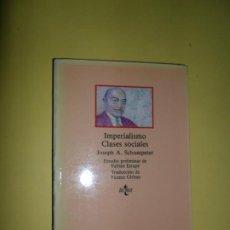 Libros de segunda mano: IMPERIALISMO, CLASES SOCIALES. JOSEPH A. SCHUMPETER, ED. TECNOS. Lote 221706262