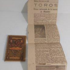 Libros de segunda mano: ASES DEL TOREO. MANOLETE Y RECORTE PERIODICO 1948. Lote 221762676