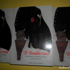 Libros de segunda mano: EL BANDOLERISMO, ESTUDIO SOCIAL Y MEMORIAS HISTÓRICAS, JULIÁN DE ZUGASTI, 3 TOMOS, DIP. CÓRDOBA. Lote 221814983
