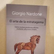 Libros de segunda mano: EL ARTE DE LA ESTRATAGEMA - GIORGIO NARDONE - HERDER - 2013. Lote 221833351