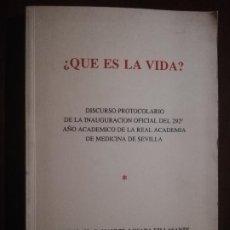 Libros de segunda mano: ¿ QUE ES LA VIDA?. D. MANUEL LOSADA VILLASANTE. CON DEDICTORIA MANUSCRITA Y FIRMADO POR EL AUTOR.. Lote 221840845