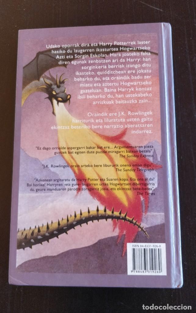 Libros de segunda mano: *PRIMERA EDICION* HARRY POTTER ETA SUAREN KOPA CALIZ FUEGO ELKAR SALAMANDRA 2002 - Foto 3 - 221896312