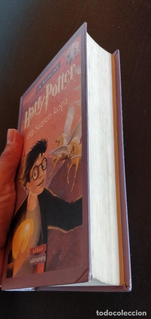 Libros de segunda mano: *PRIMERA EDICION* HARRY POTTER ETA SUAREN KOPA CALIZ FUEGO ELKAR SALAMANDRA 2002 - Foto 4 - 221896312