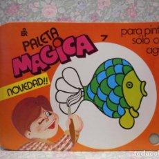 Libros de segunda mano: PALETA MAGICA N.º7. PARA PINTAR SÓLO CON AGUA. EDITORIAL ROMA.. Lote 221984828