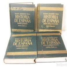 Libros de segunda mano: HISTORIA DE ESPAÑA DE MENENDEZ PIDAL EN 4 TOMOS. ESPASA CALPE. I II III Y IV. Lote 222013525