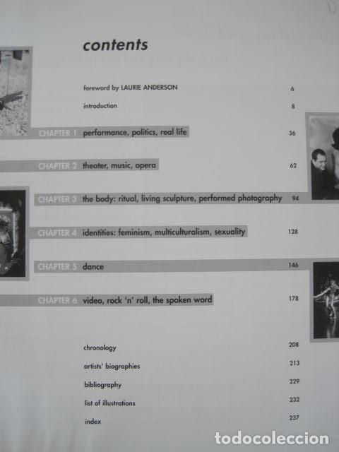 Libros de segunda mano: PERFORMANCE LIVE ART SINCE THE 60s. SIGNED BY THE AUTHOR.ROSELEE GOLDBERG. ARTE EN VIVO DESDE LOS 60 - Foto 14 - 222028013