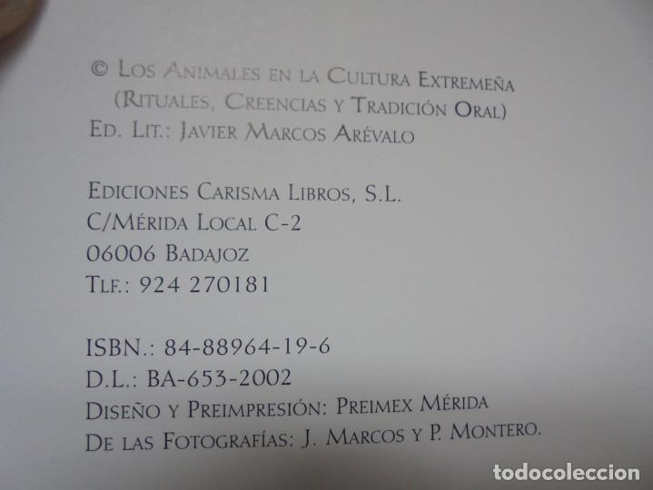 Libros de segunda mano: LOS ANIMALES EN LA CULTURA EXTREMEÑA. J.MARCOS AREVALO. EDICIONES CARISMAS. 2002. - Foto 8 - 222055413