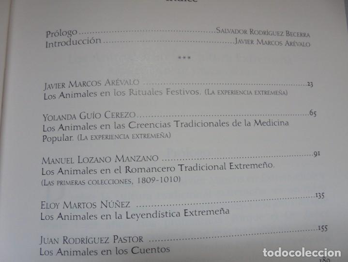 Libros de segunda mano: LOS ANIMALES EN LA CULTURA EXTREMEÑA. J.MARCOS AREVALO. EDICIONES CARISMAS. 2002. - Foto 9 - 222055413