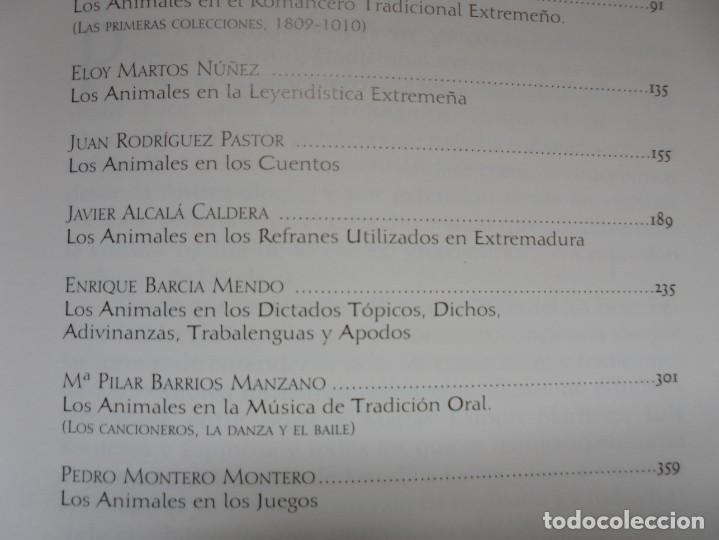 Libros de segunda mano: LOS ANIMALES EN LA CULTURA EXTREMEÑA. J.MARCOS AREVALO. EDICIONES CARISMAS. 2002. - Foto 10 - 222055413