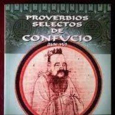 Libros de segunda mano: PROVERBIOS SELECTOS DE CONFUCIO (LUN YÜ) ARTHUR WALEY. Lote 222236028