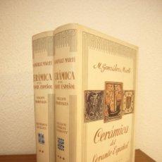 Second hand books: CERÁMICA DEL LEVANTE ESPAÑOL, II Y III: SIGLOS MEDIEVALES (LABOR, 1952) M. GONZÁLEZ MARTÍ. PERFECTOS. Lote 222258132