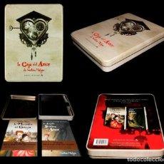 Libros de segunda mano: LA CAJA DEL AMOR. MATHIAS MALZHIEU. RESERVOIR BOOKS 2011. ED. ESPECIAL CAJA METALICA CON 2 LIBROS.. Lote 222271396